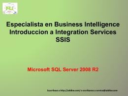 Clase BI_SQL Server2008 IntegrationServices