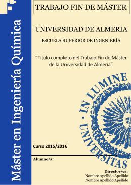 TFM_IQ_FRONTMC - Universidad de Almería