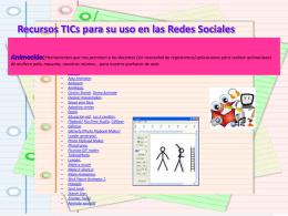 RECURSOS TICs Y REDES SOCIALES