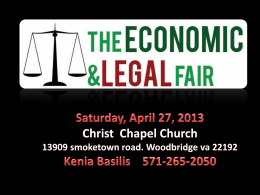 Saturday, April 27, 2013 Christ Chapel Church 13909 smoketown