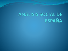 ANÁLISIS SOCIAL DE ESPAÑA - Watching International Economy