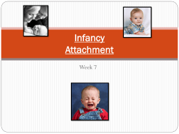 Infancy, Attachment & Temperament