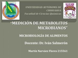 Medición de Metabolitos - FCQ