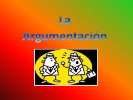 La Argumentación - trabajolascumbres