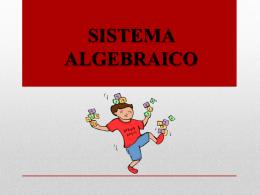 SISTEMA ALGEBRAICO Algebra