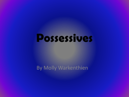 Possessives - Hurlbert-CHS