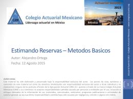 Insertar titulo de la presentacion - Colegio Actuarial Mexicano