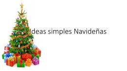 Ideas simples Navideñas