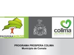 Presentación Comala - SECRETARIA DE DESARROLLO SOCIAL.