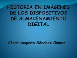 historia en imágenes de los dispositivos de almacenamiento digital