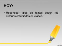tipologia textual - Liceo Bicentenario Talagante