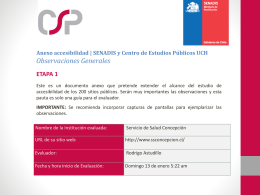 Anexo accesibilidad | SENADIS y Centro de Estudios Públicos UCH