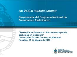 Programa Nacional de Presupuesto Participativo