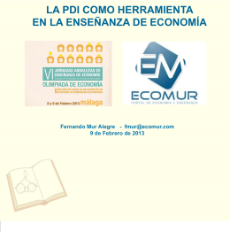 MalagaPDI2013_enPowerPoint