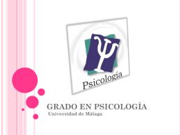 GRADO EN PSICOLOGÍA - Grupo de Orientación Universitaria