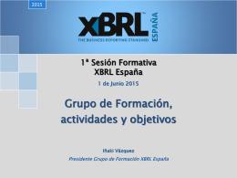 1ª Sesión Formativa XBRL España Grupo de Formación
