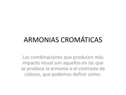 ARMONIAS DE COLOR.