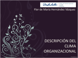 descripción del clima organizacional
