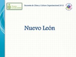 Encuesta de Clima y Cultura Organizacional 2012 Factor I