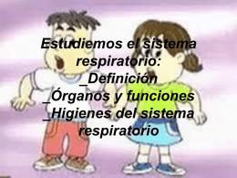 Definición de Sistema Respiratorio