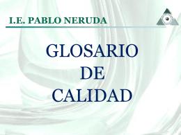 TERMINOLOGIA DE CALIDAD