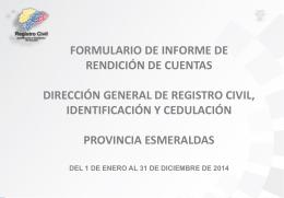 ESMERALDAS Informe Final