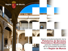 Plataforma Multientidad - Comunidad Autónoma de la Región de