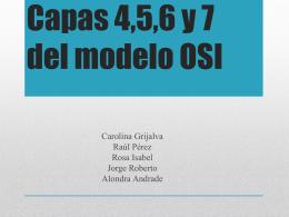 Capas 4,5,6 y 7 del modelo OSI