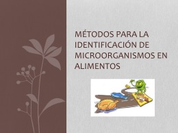 Métodos para la identificación de microorganismos en alimentos