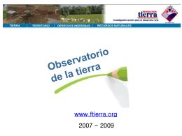 Observatorio de la tierra - Bolivia