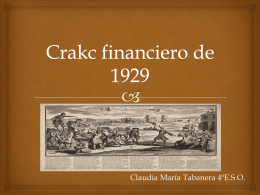 Crakc financiero de 1929