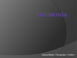 gema Martin, Neumonía