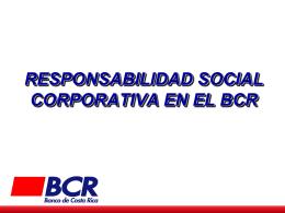 EJES DE LA RSC EN EL BCR