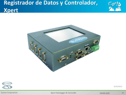 Registrador de Datos y Controlador, Xpert