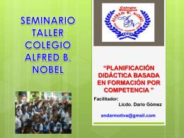 MINISTERIO DE EDUCACIÓN SEMINARIO TALLER