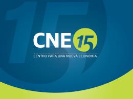 Slide 1 - CNE – Centro Para Una Nueva Economía
