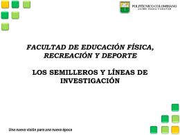 Los semilleros y líneas de investigación (228117)