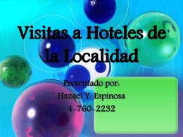 Visitas a Hoteles de la Localidad