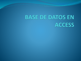BASE DE DATOS EN ACCESS