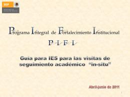 guía institucional para la visita in-situ