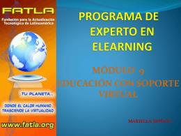PROGRAMA DE EXPERTO EN ELEARNING MÓDULO 9