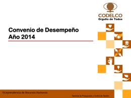 Convenio de Desempeño Año 2014