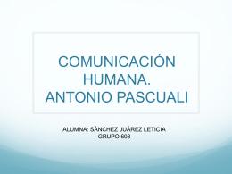 comunicacion antonio pascuali