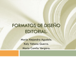 Formatos de diseño editorial.
