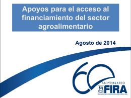Apoyos para el acceso al financiamiento del sector