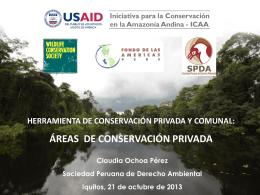 Áreas de Conservación Privada Ponencia GOREL