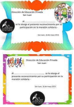 diplomas - D.E.P. San Juan