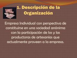 1. Descripción de la Organización
