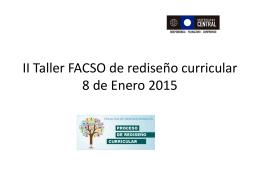 Presentación Taller FACSO de rediseño curricular