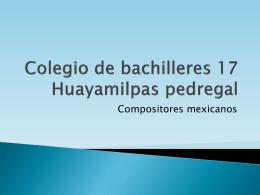 Colegio de bachilleres 17 Huayamilpas pedregal